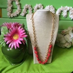 $5 Sale! NEW Orange and Gold Necklace
